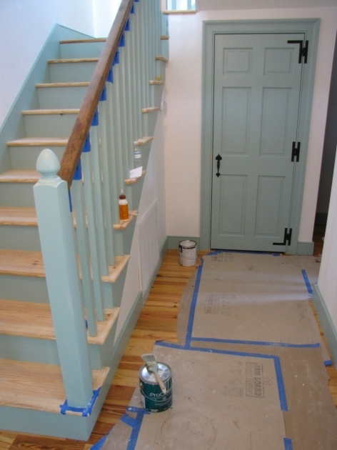Staircase Spindles Wood Home Interior Stair Design Using Light Blue Wooden Staircase Spindles Photos 06