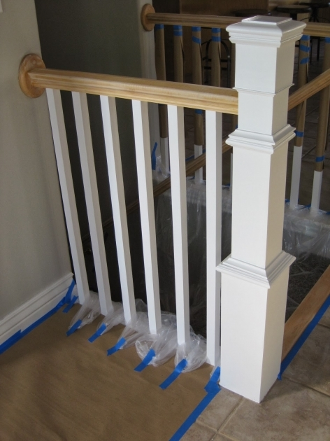 Staircase Spindles Wood Painting And Staining A Stair Banister TDA Decorating And Design Image 95