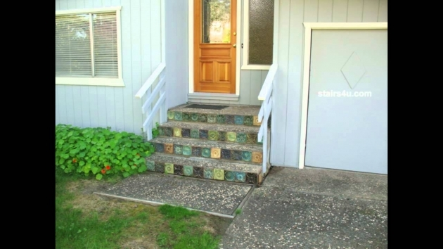 Tiles For Stairs Outdoors Concrete Stairs Using Decorative Rock With Interesting Ceramic Image 67