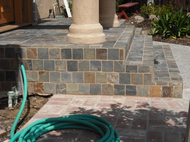 Tiles For Stairs Outdoors Slate Tiled Steps With Porch Pic 40