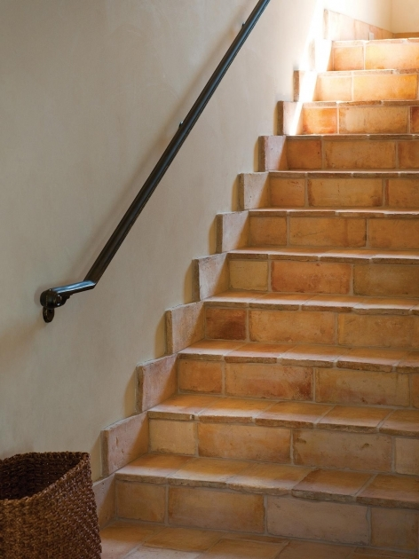 Tiling Stairs With Ceramic Tiles Allure Of French And Italian Decor Terra Cotta Tile Stairs Photo 53