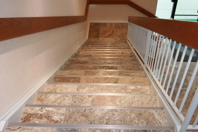Tiling Stairs With Ceramic Tiles Carlisle Porcelain Tile Steps With Schluter Step Pic 95