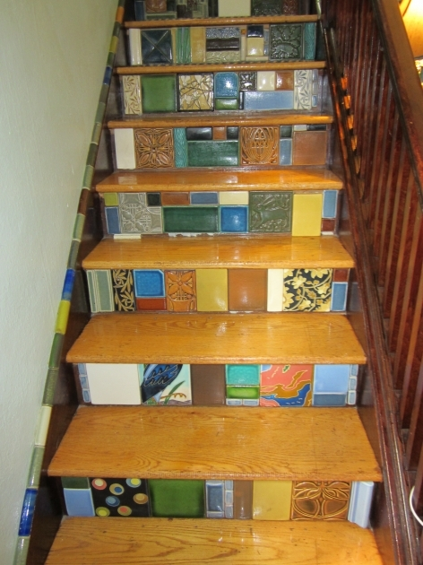 Tiling Stairs With Ceramic Tiles Creative Design Ideas Image 63
