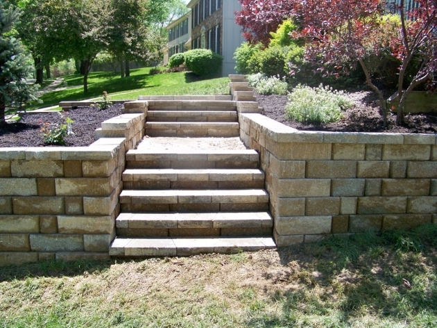 Timber Stairs Outdoor Building Garden Landscape Steps Ideas From Stone Materials Picture 56