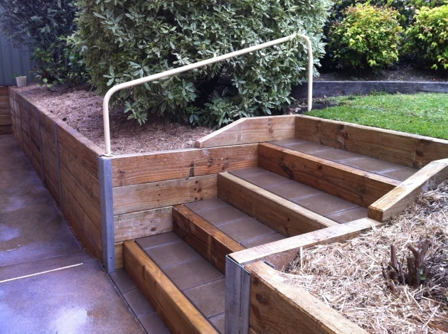 Timber Stairs Outdoor Timber Steps Gardens Pic 20