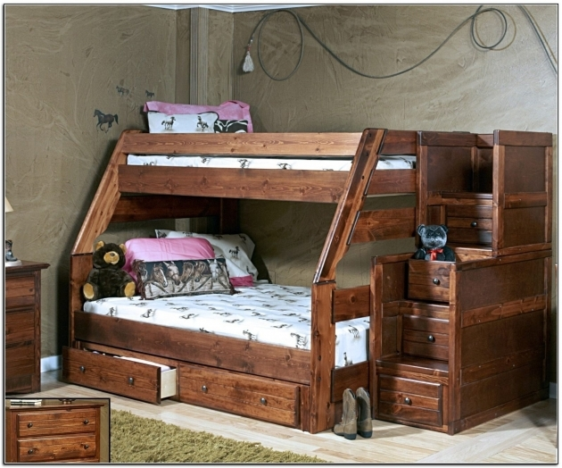 Twin Over Full Bunk Bed With Stairs And Storage Image 57