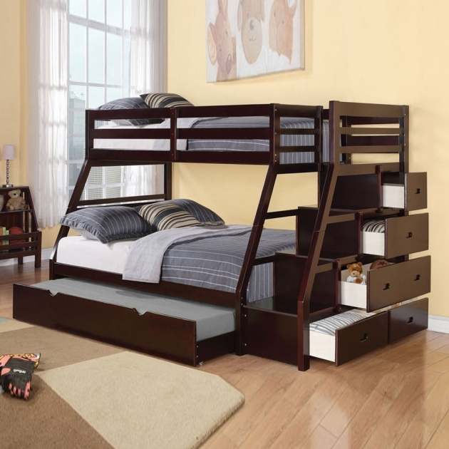 Twin Over Full Bunk Bed With Stairs And Storage Pics 66