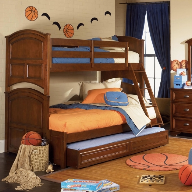 Twin Over Full Bunk Bed With Stairs And Trundle Kids Furniture Ideas Picture 93