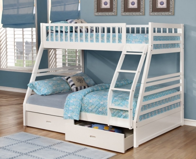 Twin Over Full Bunk Bed With Stairs Fraser Iii White Twin Over Full Bunk Bed With Storage Drawers Image 77