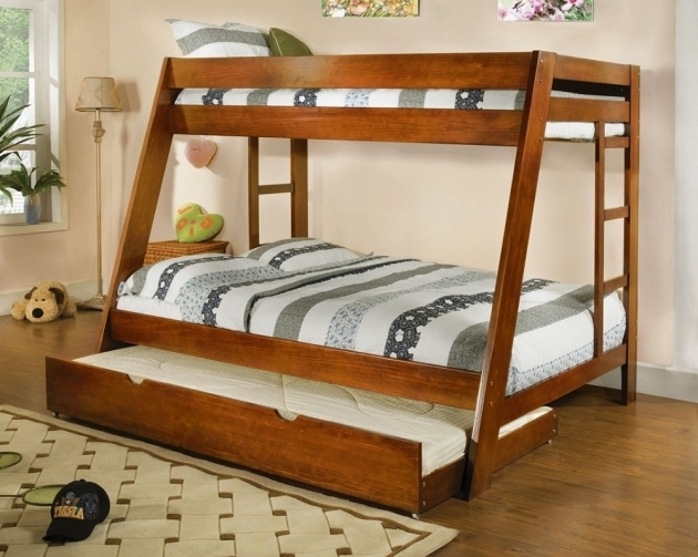 Twin Over Full Bunk Bed With Stairs With Trundle Design Photos 67