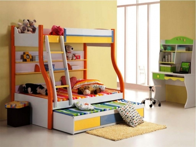 Wood Bunk Beds With Stairs Brown Lacquered Mahogany Wood Bunk Bed Blue Rug Pics 43