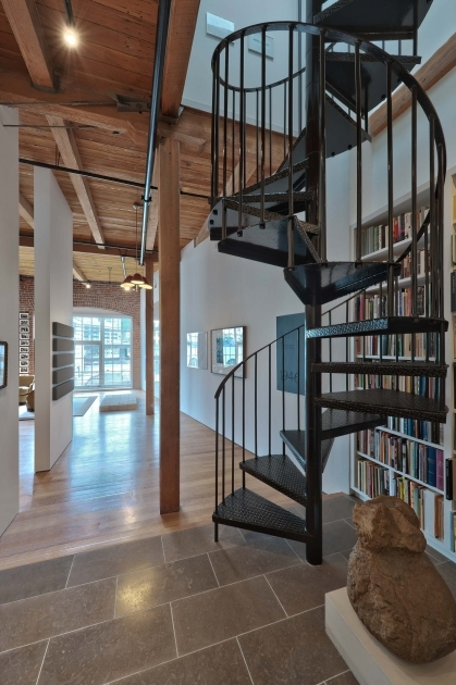 Wrought Iron Spiral Staircase Attractive Tile Flooring And Wood Flooring Cool Black Metal Spiral Staircase Pictures 51