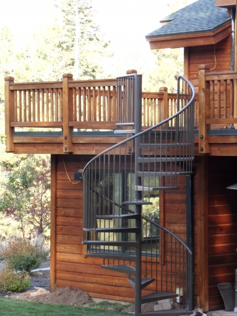 Wrought Iron Spiral Staircase Exterior Gothic Black Metal Spiral Staircase For Balcony Wrapround Image 19