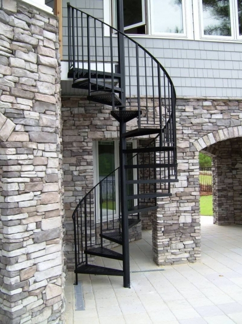 Wrought Iron Spiral Staircase Outdoor Spiral Staircase Kits Ideas For Your Home Image 17
