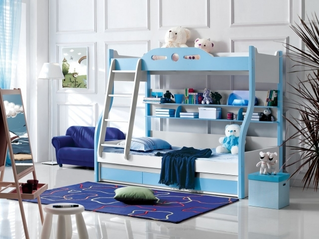 Childrens Bunk Beds With Stairs Blue And White Decoration Toddler Bunk Bed Plans Pics 06