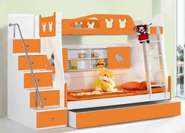 Childrens Bunk Beds With Stairs Decoration Ideas Creative Ideas With Strength Colors Picture 70