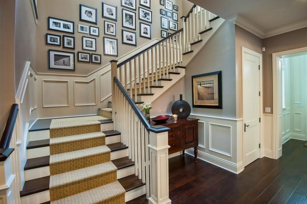 Decorative Stair Risers Jill Wolff Brentwood Skyeway Foyer Stairs Pics 17