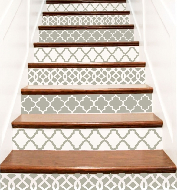 Decorative Stair Risers Vinyl Stair Tile Decals Pics 36
