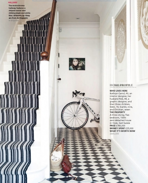 Designs For Stairs And Halls Blacka Dn White Photo 34