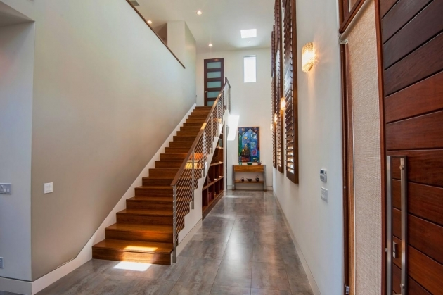 Designs For Stairs And Halls Jill Wolff Modern Neutral Hallway With Wood Stairs Pics 55