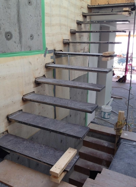 Floating Stairs Construction And Wall Anchors Pic 05