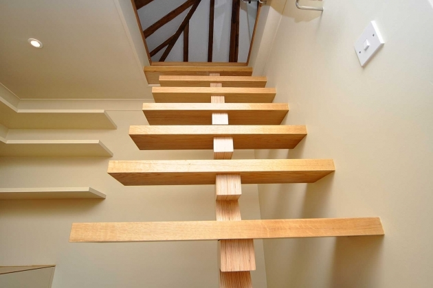 Floating Stairs Construction Fantastic Oak Staircase Materials With Unpolished Ideas Photos 35