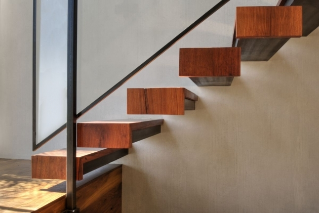 Floating Stairs Construction West Hollywood Residence By Fer Studio Images 69