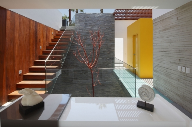 Glass Stairs Railing With Sturdy And Contemporary Stainless Steel Handrail Staircase Design Photos 24