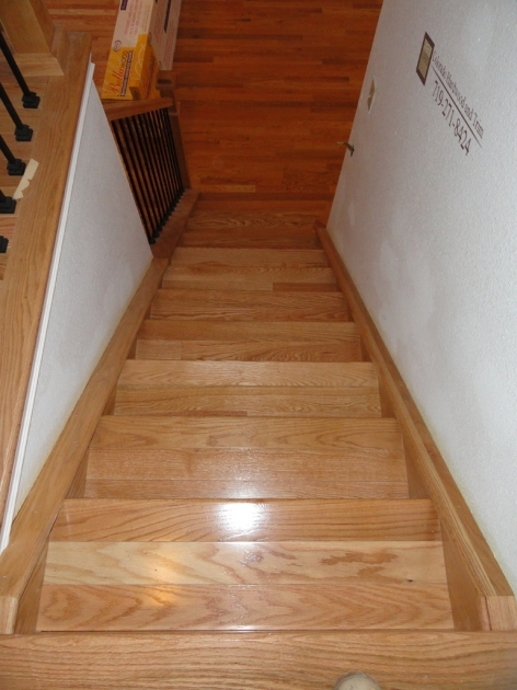 Oak Stair Treads Prefinished Design Idea With Brown Oak Tread Covers Combine Picture 40