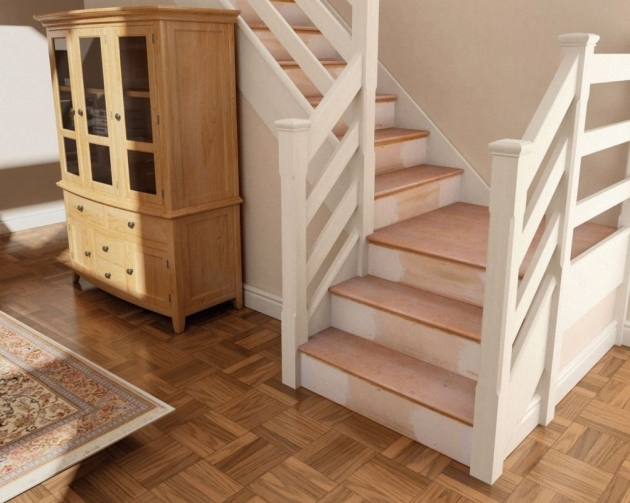 Oak Stair Treads With Return Home Decorating Ideas Images 38
