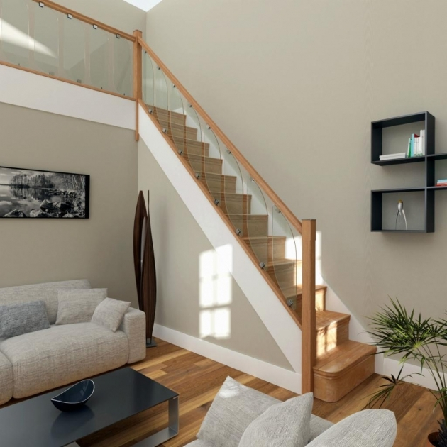 Oak Staircases With Glass Balustrade Kit Stair Parts Oak Handrails Photo 45