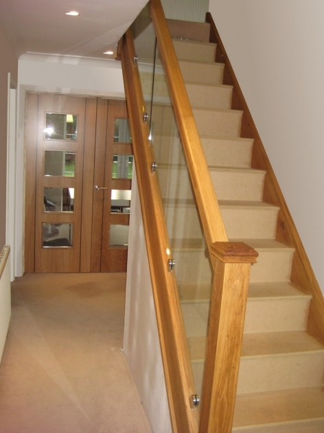 Oak Staircases With Glass Balustrade On Chrome Clamps Unique Pictures 39