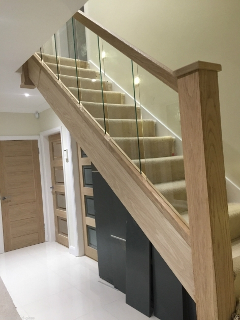 Oak Staircases With Glass Balustrade Reflections Refurbishment Kit Photos 83