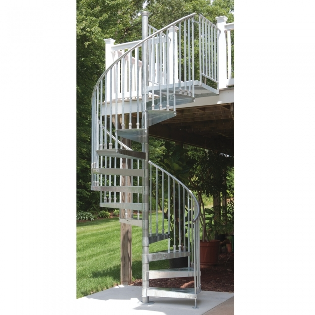 Outdoor Spiral Stair Kits 60 In X 1025 Ft Galvanized Spiral Pictures 69