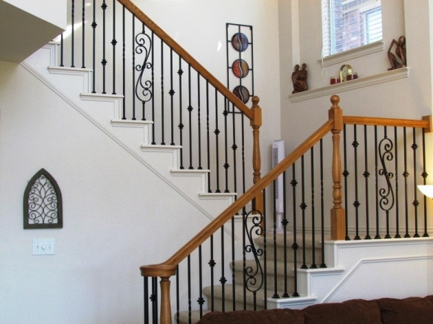 Staircase Railing Designs Wrought Iron Stair Balusters Decorate Stair Railings Pictures 79