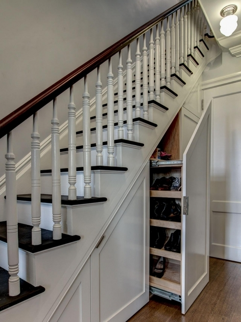 under Stairs Shoe Storage Diy Ben Herzog White Traditional Entryway Shoes Image 52