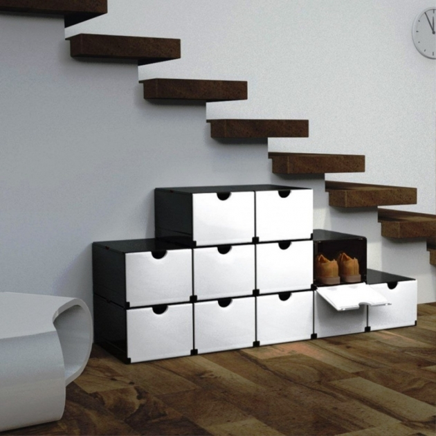 Under Stairs Shoe Storage Ideas Rack Holder Cabinet Under Floating Stairs For Modern House Images 55