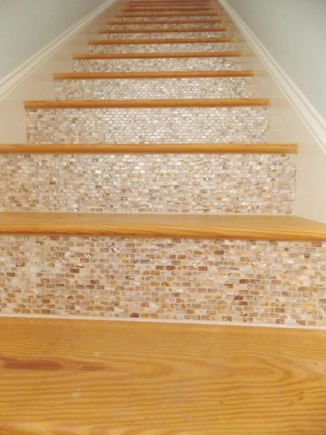 Wood Stair Treads With Tile Risers For Home Design Images 42