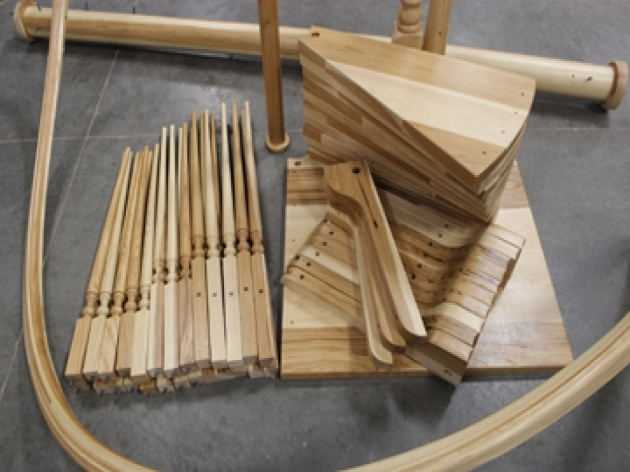 Wooden Spiral Staircase Kits Part Before Installing Pic 89