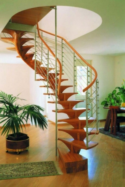 Wooden Spiral Staircase Plans Alluring Wooden Contemporary Spiral Staircase Design With Metal Baluster Images 63