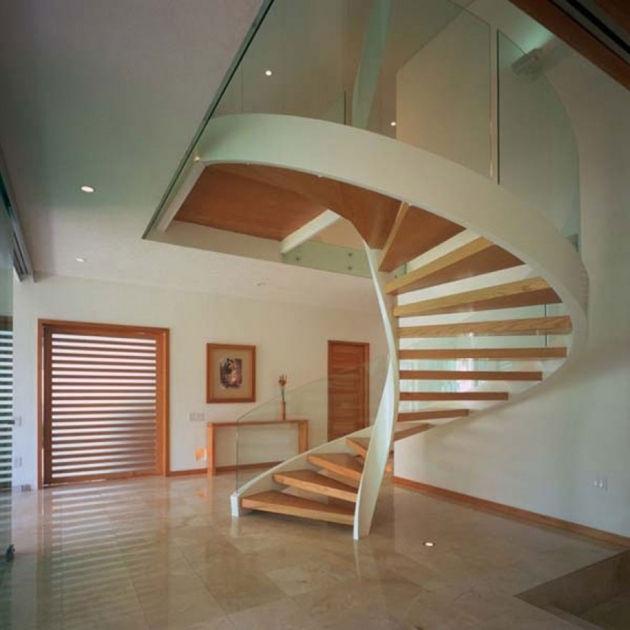 Wooden Spiral Staircase Plans Big House Picture 06