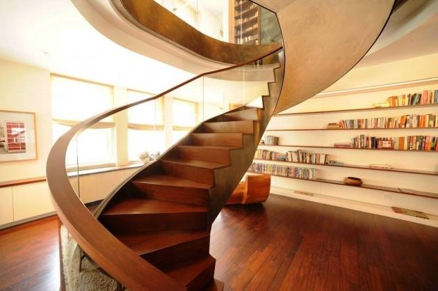 Wooden Spiral Staircase Plans Large Home Pics 13