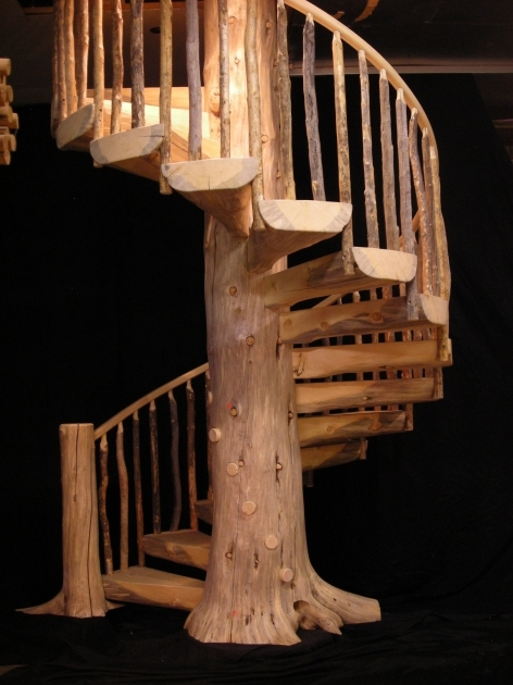Wooden Spiral Staircase Plans Outdoor Custom Wood Stairs Gallery Log Stairs Pics 30