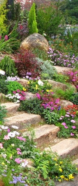 Building Stairs Into A Hill Ideas Outdoor Stairs Image 73