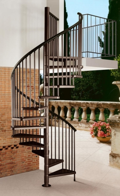 Circular Staircase Exterior Design Spiral Staircases And Metal Fences Picture 82