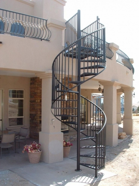 Circular Staircase Exterior Metal Spiral Stairs Images 39