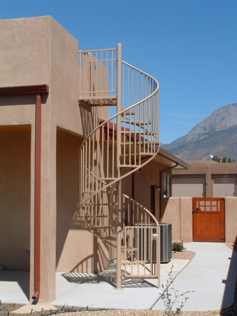 Circular Staircase Exterior Spiral Stairs Pic 54