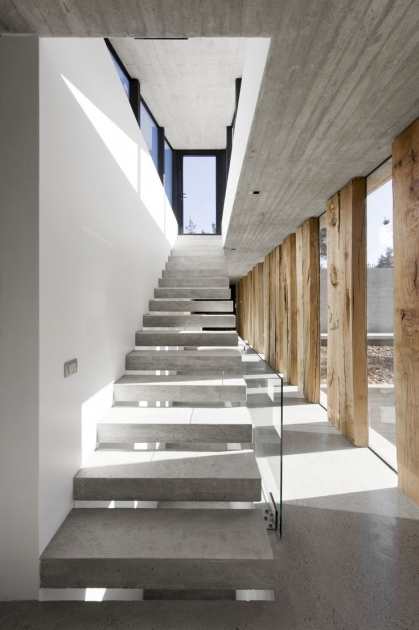 Floating Concrete Stairs Construction Staircase House Ideas Photos 47