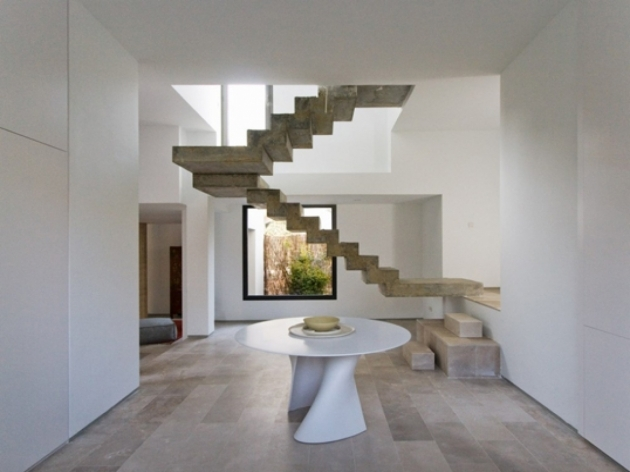 Floating Concrete Stairs Double Staircase Pic 63