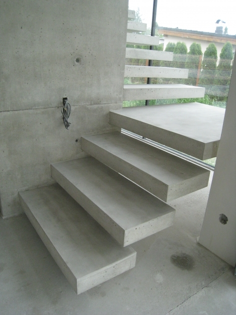 Floating Concrete Stairs Steps Design Glass Balustrade Images 22